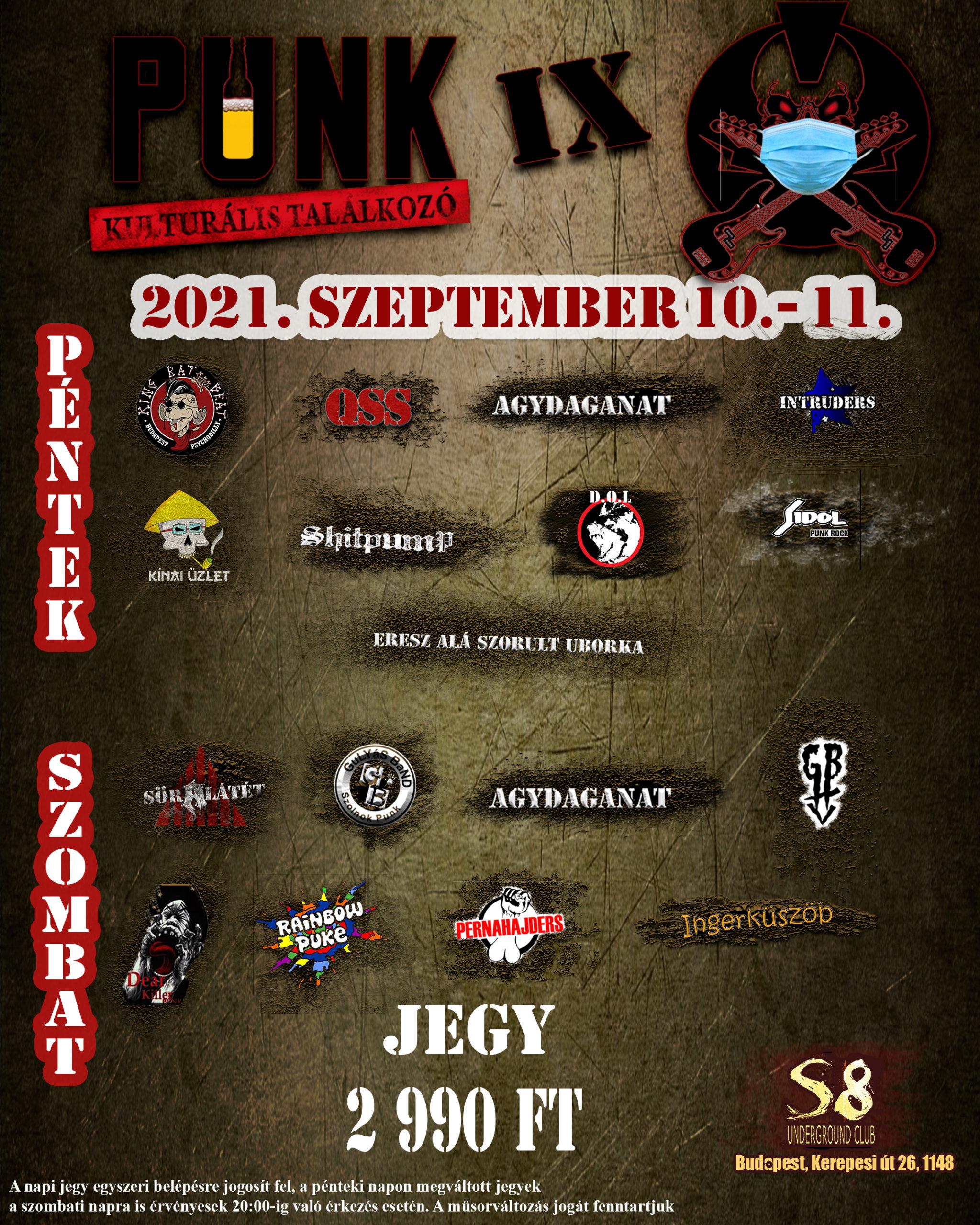 2021 Punk Kulturalis Találkozó teljes plakát