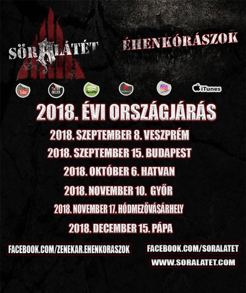 Söralátét 2018 Őszi Magyarország turné